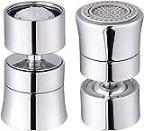 360 Grad Wasserhahn Strahlregler Aufsatz M24/M22 Wassersparer für Wasserhahn-Luftsprudler, Wassersparender Siebstrahlregler für Bad Küchenarmatur Düse Filter Adapter