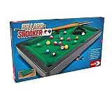 Noris Billiard & Snooker-Aktionsspiel für die ganze Familie-Spielzeug 606167704 Pool Billard & Snooker inkl. 2 Queues, 16 Billard-und 17 Snooker Kugeln und Triangel, für Kinder ab 4 Jahren