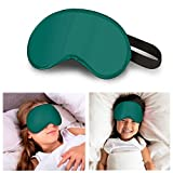 FLOWZOOM Schlafmaske Kinder   Augenmaske Kinder für Mädchen & Jungen (Farbe: Türkis)