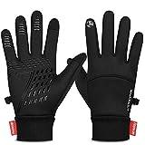Yobenki Handschuhe Fahrradhandschuhe Warm Winterhandschuhe wasserdichte Touchscreen Handschuhe Anti-Rutsch Laufhandschuhe für Männer Frauen zum Radfahren Wandern Klettern Outdoor Aktivitäten