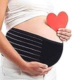 AIWITHPM Bauchband Schwangerschaft Sgürtel Bauchband für Schwangere Stützgürtel Bauchgurt Stützt Taille Rücken und ßenverstellbarer Atmungsaktiv (schwarz)