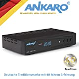 Ankaro 2100 DSR Sat-Receiver - HD Satelliten Receiver mit USB-Mediaplayer Funktion - DVB-S/S2 Receiver für Satellit - Astra & Hotbird vorinstalliert + Anadol HDMI Kabel (Ohne PVR Aufnahmefunktion)