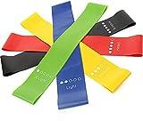 GAKOV Fitnessbänder 5er-Set Resistance Bands trainingsband gymnastikband, Fitnessstudio, Yoga Krafttraining, Physiotherapie, Fitness Pilates für Männer und Frauen