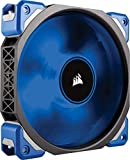 Corsair ML120 Pro LED PC-Gehäuselüfter (120 mm, mit Premium Magnetschwebetechnik, blaue LED, Single Pack) Schwarz/Blau
