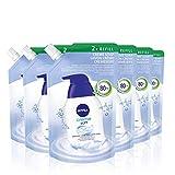 NIVEA Creme Soft Seife Nachfüllbeutel im 6er Pack (6 x 500 ml), pflegende Handseife mit Mandel-Öl, mild duftende Cremeseife zur sanften und hygienischen Reinigung