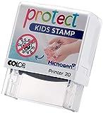Protect Kids Stamp Kinder-Stempel - Hilfe beim Händewaschen - Abwaschbares Motiv