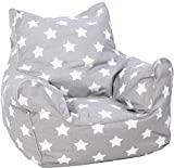KNORRTOYS.COM 68211 Knorrtoys 68211-Kindersitzsack Kindersitzsack, Stars White