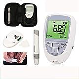 Qazxc Blutzuckermessgerät Set, 3in1 Blutzucker & UricAcid & CholesterolMeter Haushalt Glucometer Kit Diabetes Gout Tester Monitor-Gerät & Teststreifen (Color : Host+10 uric Acid Test Paper)