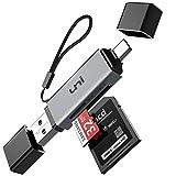 SD Kartenleser, uni USB Kartenleser, USB C Kartenleser, Micro SD Adapter, Kartenlesegerät USB Typ C, kompatibel für MacBook Pro, MacBook, iPad Pro 2020/2018, Galaxy S20, Huawei P40 und mehr