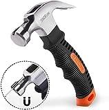 Hammer, TACKLIFE Mini Hammer-HMH2A,ergonomischer Griff mit weichem Gummi,mit magnetischem und rutschfestem Kopf, geeignet für Reparatur, DIY, Holzarbeit