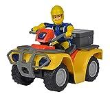 Simba 109257657 - Feuerwehrmann Sam Mercury Quad / mit Sam Figur und Zubehör, für Kinder ab 3 Jahren