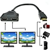 SYS HDMI-Kabel 1 Stecker auf 2 Buchsen, Y-Splitter-Kabel-Adapter, HD, TV,LCD, LED