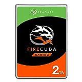 SeagateST2000LXZ01/LX001 FireCuda 2 TB, SSHD intern Festplatte (6, 35 cm (2, 5 Zoll), 7 mm dünn, SATA 6 Gb/s, silber, FFP (Frustfreie Verpackung))