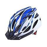 ZME Erwachsene Fahrradhelm, Herren Damen MTB Mountainbike Helm, Verstellbar Schutzhelm, Radhelm Rennradhelm für Outdoor Radfahren Skateboard Langlauf Sport Freizeit (Blau)