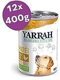Yarrah Bio-Hundefutter Pastete mit Huhn - 12 x 400 gr - Geeignet für Hunde Aller Rassen und Altersgruppen - Getreidefrei - Mit Spirulina und Algen - Ohne künstliche Zusatzstoffe, Pestizide oder GVO