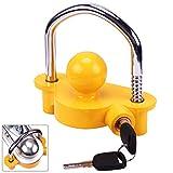 Turnart Anhängerschloss Wohnwagen Für 1-7/8', 2', 50mm Und 2-5/16'Koppler 2 Schlüsseln (Gelb)