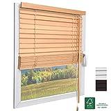 Sol Royal FSC® Holzjalousie SolDecor JH3 Jalousie aus Holz in Eichenoptik - 40x130 cm Tür- und Fensterjalousie Holz umweltschonend produziert - Jalousien Fenster