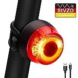 ORSIFOW Fahrrad Rücklicht, StVZO Zugelassen Ultra Hell Fahrradrücklicht LED USB Aufladbar, wasserdichte Fahrradlicht Fahrradlampe Aufladbar für Radfahren