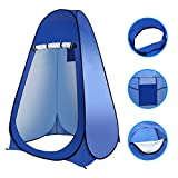 Laelr Pop up Umkleidezelt Toilettenzelt Camping Duschzelt Mobile Outdoor Privatsphäre WC Zelt Tragbar Lagerzelt, 190cm*120cm*120cm