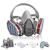 Atemschutzmaske NASUM Schutz Halbmaske für Farbspritz, Staub, Chemikalien, Schutz Geruchsminderung für Sprüh-, Sanierungs-,Lackier- und Schleifarbeiten