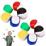 Joyibay Jonglierbälle für Anfänger, 10 STÜCKE Jonglierball Set für Kinder Lustige Interaktives Jonglierbälle zum Ballspielen Spielball für Kinder Partyartikel Jonglierspielzeug für Kinderspielzeug