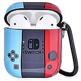 Airpods Hülle - VIGOSS Hard Airpod Hülle 4 in 1 Airpods Zubehör Schutzset Skin Kompatibel mit Airpods 2 und 1 Glänzend Blume Hülle Frauen, Handheld-Spiel