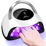 120W Nageltrockner, ABsuper UV LED Lampe für Nägel, Professionelle Nagellampe mit 4 Timer,Auto-Sensor,Touchscreen,Abnehmbare Magnet-Platte,Aushärtungswerkzeug für Finger-/Zehennagel poly gel shellac