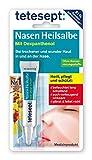 tetesept Nasen Heilsalbe – Nasenpflege Creme bei Erkältung - befeuchtet die Nase, heilt wunde Stellen und Risse & schützt die Haut der Nase – 1 x 5 g