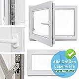 Kellerfenster - Kunststoff - Fenster - weiß - BxH: 100 x 50 cm - DIN links - 3-fach-Verglasung - Lagerware