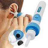 Ohrenreiniger, Elektrische Ohrwachsentferner, Sicherer Ohrenschmalz Entferner Mit 2 entfernbaren Soft Silikon Aufsatzen für Kleinkinder, Jugendliche Erwachsene, Baby