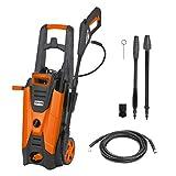 DELTAFOX Hochdruckreiniger - max. Druck 150 bar - max. 450 l/h Fördermenge - 6m Schlauch - 5m Kabel - 2100 W - Reinigungsmittelbehälter - Schlauchtrommel - Kabelhalter
