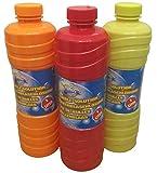 GW Handels UG 3 Liter Seifenblasenflüssigkeit Nachfüller für Seifenblasen Maschine Pistole Nachfüllflasche Seifenblasenlauge transparent