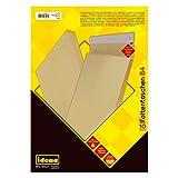 Idena 346096 - Faltentasche B4 haftklebend ohne Fenster, 4 cm Boden, 10 Stück, braun