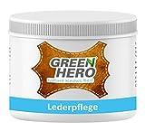 Green Hero Lederpflege, 500 ml, Balsam mit Bienenwachs zur Pflege und Imprägnierung von Leder, Lederbalsam, Auto, Schuhe, Couch, Taschen und Möbel