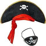 Balinco Piratenset für Kinder bestehend aus Piratenhut + Augenklappe - Kostüm Set für Fasching / Karneval