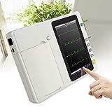 Funwill Tragbarer 7-Zoll-LCD-Touchscreen, Digitaler 6-Kanal-Elektrokardiograph, EKG/EKG-Gerät Set