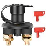 Batterieschalter 12V / 24V, Bolatus Auto Batterie Trennschalter Hauptstromschalter 2 Polig Ein-/Aus-Schalter Kill Switch 6V für Fahrzeug Boot Auto Kfz