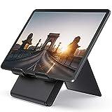 Lamicall Tablet Ständer Verstellbare, Tablet Stand - Faltbarer Halter, Halterung, Dock für 2019 Pad Pro 9.7/10.2/10.5/12.9, Pad Air 2 3 4, Pad Mini 2 3 4, Samsung, andere Tab 5'-13' - Schwarz