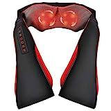 Milcea Schulter Massagegerät für Nacken Rücken Shiatsu Nackenmassagegerät mit Wärmefunktion und 3D Rotation Massage Einstellbaren Geschwindigkeiten Elektrische Massagegerät für Hause Büro Auto