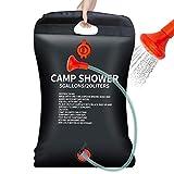 JTENG Campingdusche Solar,20L Outdoor Dusche Reisedusche Camp Shower Wandern Wassersack Shower mit Duschkopf, Schlauch, Griffstange und Seil zum Aufhängen