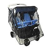 Ezkindheit Universal Regenschutz für Doppelkinderwagen / Schutz vor Wasser und Wind Kinderwagenzubehör