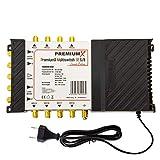 PremiumX PMSE 5-8 Multischalter mit Netzteil Second Edition Multiswitch 1 SAT für 8 Teilnehmer Satverteiler Digital HDTV FullHD 4K UHD 8K