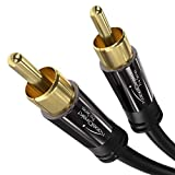 KabelDirekt - Cinch Subwoofer Kabel - 3m - (Koaxialkabel geeignet für Verstärker, Stereoanlangen, HiFi Anlagen & andere Geräte mit Cinch Anschluss, 1 Cinch zu 1 Cinch)