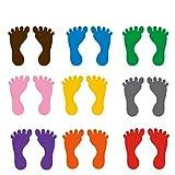 STOBOK 9 Paare fußabdruck Boden Aufkleber Bunte Wand fußabdruck Aufkleber für schulkindergarten klassenzimmer kinderzimmer Dekoration größe l