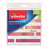 Vileda Schwammtuch Design Edition, saugfähig und leistungsstark, 18 x 20 cm, im 3er-Pack