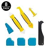Silikon Werkzeug, Komake Silikonentferner & Silikon Fugenwerkzeug, 8 in 1 Multifunktionale Silikon Werkzeug Set fugenwerkzeug Schaber Set für Küche Badezimmer Boden