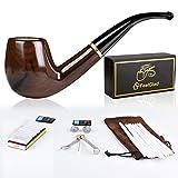 FeelGlad tabakpfeife, 5 in 1 Premium pfeifen Set, Handgemachte Klassische Pfeife aus edlem Holz für Einsteiger und Fortgeschrittene