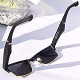 WNZL Bluetooth-Sonnenbrille, Richtungsübertragungslautsprecher mit ultraleichtem Rahmen, austauschbare 3 Brillenbeine, integriertes Mikrofon für Kopfhörer, Musik, Telefonanruf,Gold