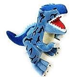 Beppe Plüsch Saurier Dinosaurier zum kuscheln Plüschdino Geschenk Tier Geburtstagsgeschenke Kinderbett Plüschtier Stofftier Spielwaren weiches Geschenkidee Dino T-Rex Tyranosaurus Kuscheltier Blau