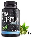 GREEN-TEA Grüntee-Extrakt – Hochdosiert, vegan – Grüner Tee, Laborgeprüft & 2 Monats-Vorrat – 120 Grüntee-Kapseln –